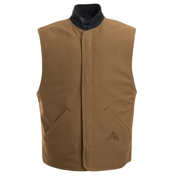 Brown Duck Vest Jacket Liner - EXCEL FR ComforTouch-Bulwark®