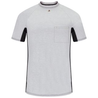 Short Sleeve FR Two-Tone Base Layer with Concealed Chest Pocket- EXCEL FR-