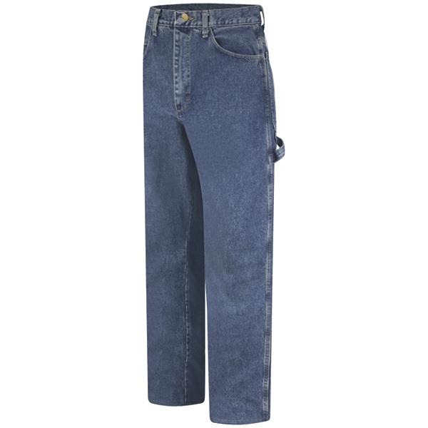 DEAL OF THE DAY Bulwark FR PEJ8 Men's Pre-washed Denim Dungaree - EXCEL FR - 14.75 oz. - Stone Wash-