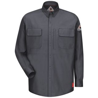 IQ Series Comfort Woven Long Sleeve Patch Pocket Shirt-Bulwark®