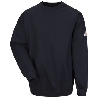 Pullover Crewneck Sweatshirt - Cotton/Spandex Blend