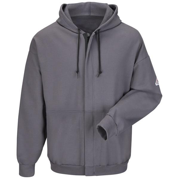 Zip-Front Hooded Fleece Sweatshirt-