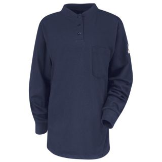 SEL3 Long Sleeve Tagless Henley Shirt - EXCEL FR-