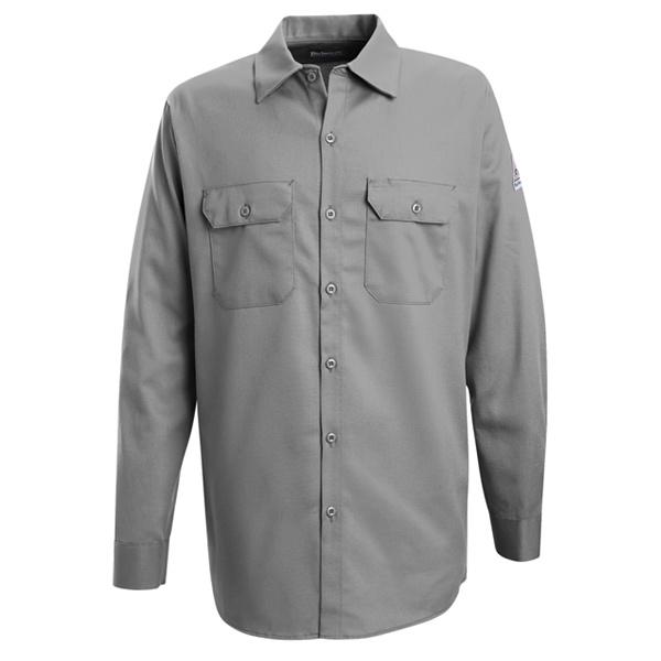 DEAL OF THE DAY Bulwark FR SEW2 Men's Work Shirt - EXCEL FR - 7 oz. - Silver Grey-