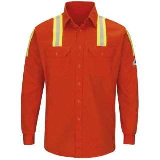 7 oz. Enhanced Visibility Long Sleeve Uniform Shirt-Bulwark