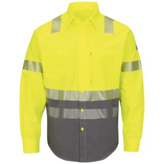 Hi-Visibility Color Block Uniform Shirt - EXCEL FR ComforTouch - 7 oz.-Bulwark�