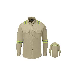 Mens Midweight FR Enhanced Visibility Shirt - 7 oz.-Bulwark®