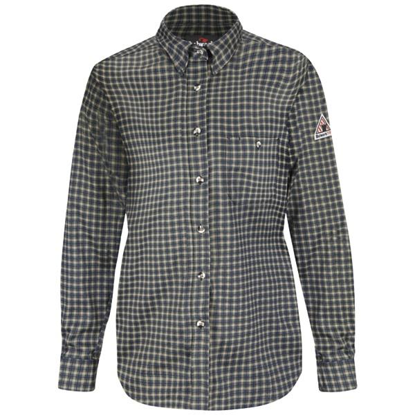 Womens Plaid Dress Shirt - EXCEL FR ComforTouch - 6.5 oz.-Bulwark®