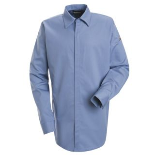 Concealed-Gripper Pocketless Shirt - EXCEL FR ComforTouch - 7 oz.