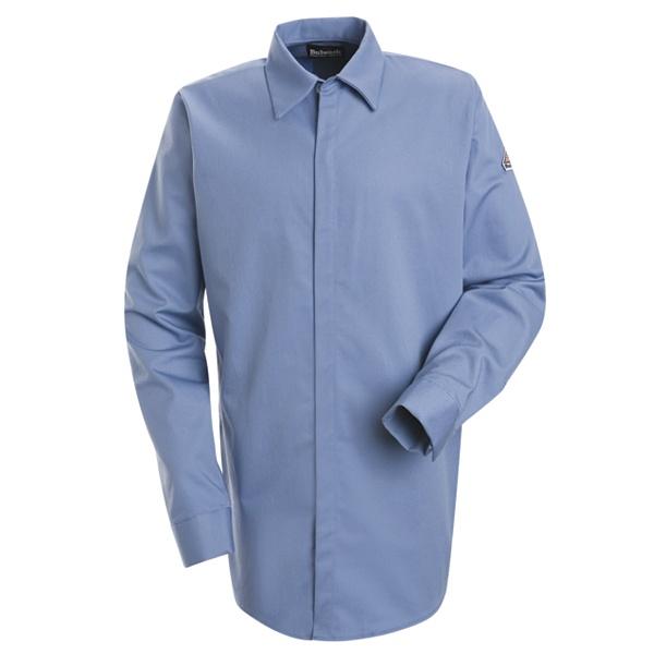 Concealed-Gripper Pocketless Shirt - EXCEL FR ComforTouch - 7 oz.-Bulwark®