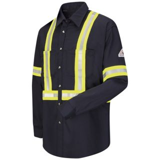 Dress Uniform Shirt with CSA reflective trim - EXCEL FR ComforTouch - 7 oz.-Bulwark