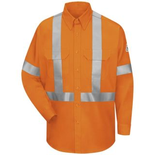 Hi-Visibility Work Shirt With CSA Compliant Reflective Trim - EXCEL FR ComforTouch - 6 oz.-