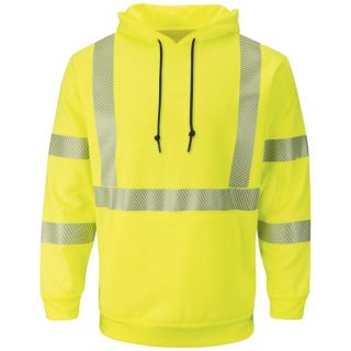 Hi-Visibility Pullover Hooded Fleece Sweatshirt-