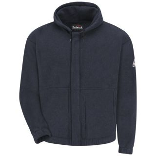 Zip-front Hooded Fleece Sweatshirt - Modacrylic blend-