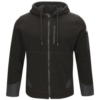 Men s Full Zip Front Hooded Fleece Jacket-