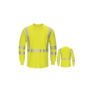 Hi-Visibility Lightweight Long Sleeve T-Shirt-Bulwark®