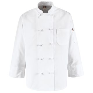 Ten Knot Button Chef Coat-