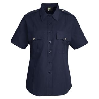 HS1266 New Dimension Stretch Poplin Short Sleeve Shirt