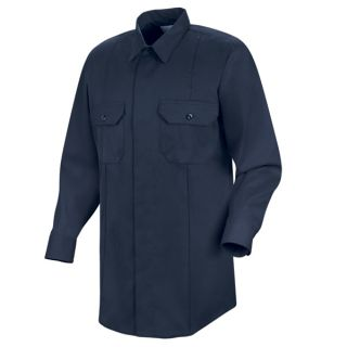 New Dimension Concealed Button Front Long Sleeve Shirt-