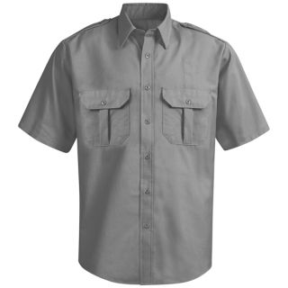 HS14GY New Dimension Ripstop Short Sleeve Shirt-