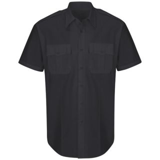 New Dimension Plus Short Sleeve Poplin Shirt-Horace Small�