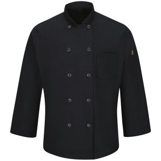 Mens Ten Button Chef Coat with MIMIX and OILBLOK-