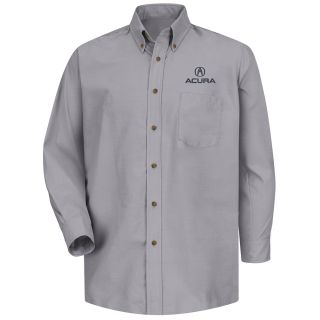 Acura Mens Long Sleeve Poplin Dress Shirt - 1101SV-