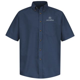 Acura Mens Short Sleeve Poplin Dress Shirt - 1103NV-