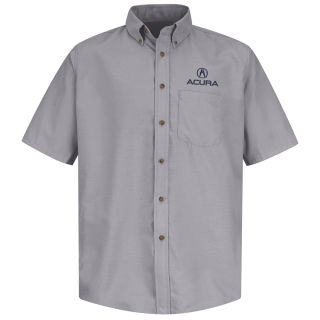 Acura Mens Short Sleeve Poplin Dress Shirt - 1104SV-