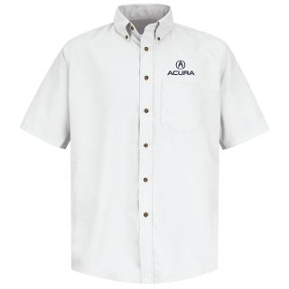 Acura Mens Short Sleeve Poplin Dress Shirt - 1105WH-