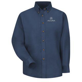 Acura Womens Long Sleeve Poplin Dress Shirt - 1106NV-