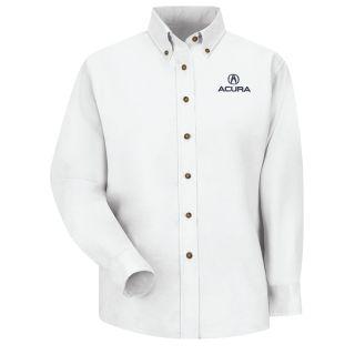 Acura Womens Long Sleeve Poplin Dress Shirt - 1107WH-