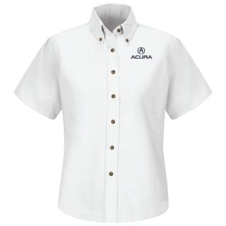 Acura Womens Short Sleeve Poplin Dress Shirt - 1109WH-