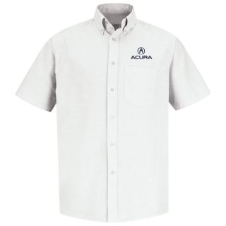 Red Kap® Branded Industrial Auto Acura M SS Oxford Shirt -WH-Red kap