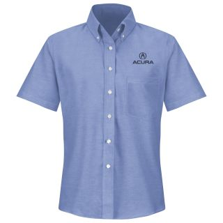 Acura F SS Oxford Shirt -LB-Red Kap®