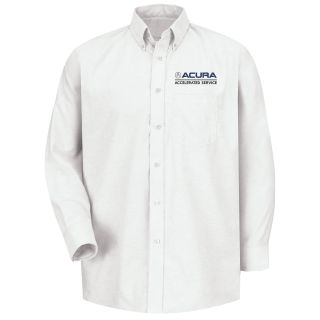 Red Kap® Branded Industrial Auto Acura Accelerated M LS Oxford Shirt -WH-Red kap
