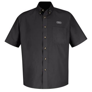 Audi Mens Short Sleeve Meridian Performance Twill Shirt - 1133BK-