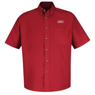 Audi Mens Short Sleeve Meridian Performance Twill Shirt - 1134RD-