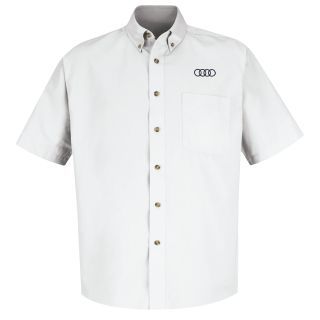 Audi Mens Short Sleeve Meridian Performance Twill Shirt - 1135WH-