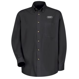 Audi Mens Long Sleeve Meridian Performance Twill Shirt - 1136BK-