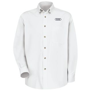 Audi Mens Long Sleeve Meridian Performance Twill Shirt - 1138WH-