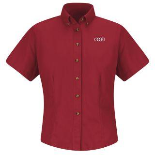 Audi Womens Short Sleeve Meridian Performance Twill Shirt - 1140RD-