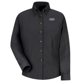 Audi Womens Long Sleeve Meridian Performance Twill Shirt - 1142BK-