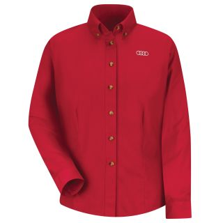 Audi Womens Long Sleeve Meridian Performance Twill Shirt - 1143RD-
