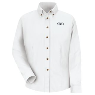 Audi F LS Twill Shirt - WH-Red Kap®
