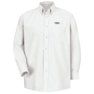 Audi M LS Oxford Shirt -WH-Red Kap®