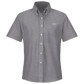 Audi Womens Short Sleeve Executive Oxford Dress Shirt - 1149GY-