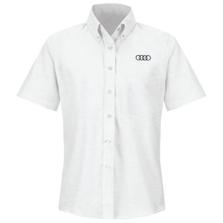 Audi Womens Short Sleeve Executive Oxford Dress Shirt - 1150WH-