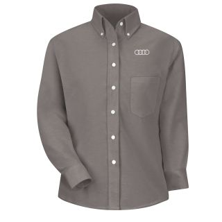 Audi Womens Long Sleeve Executive Oxford Dress Shirt - 1151GY-