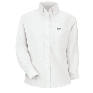 Audi F LS Oxford Shirt -WH-Red Kap®